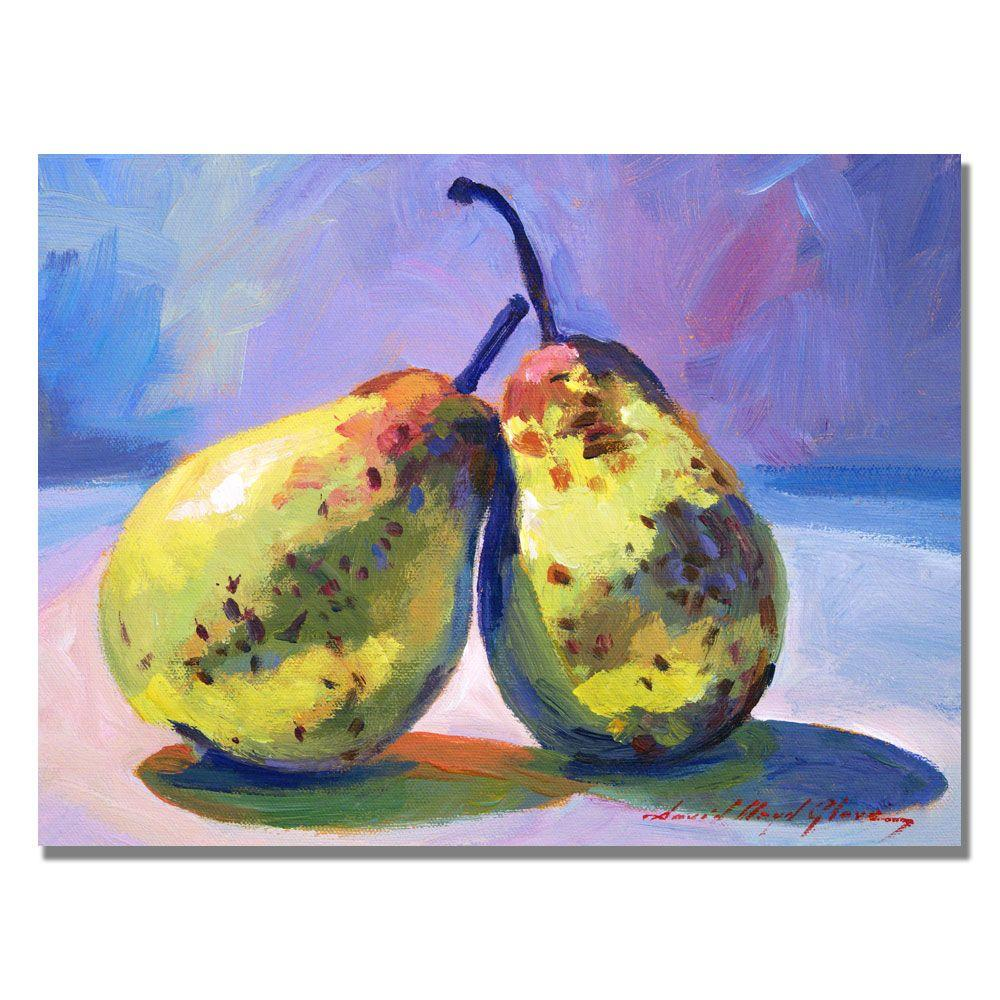 18 in. x 24 in. A Pair of Pears Canvas Art