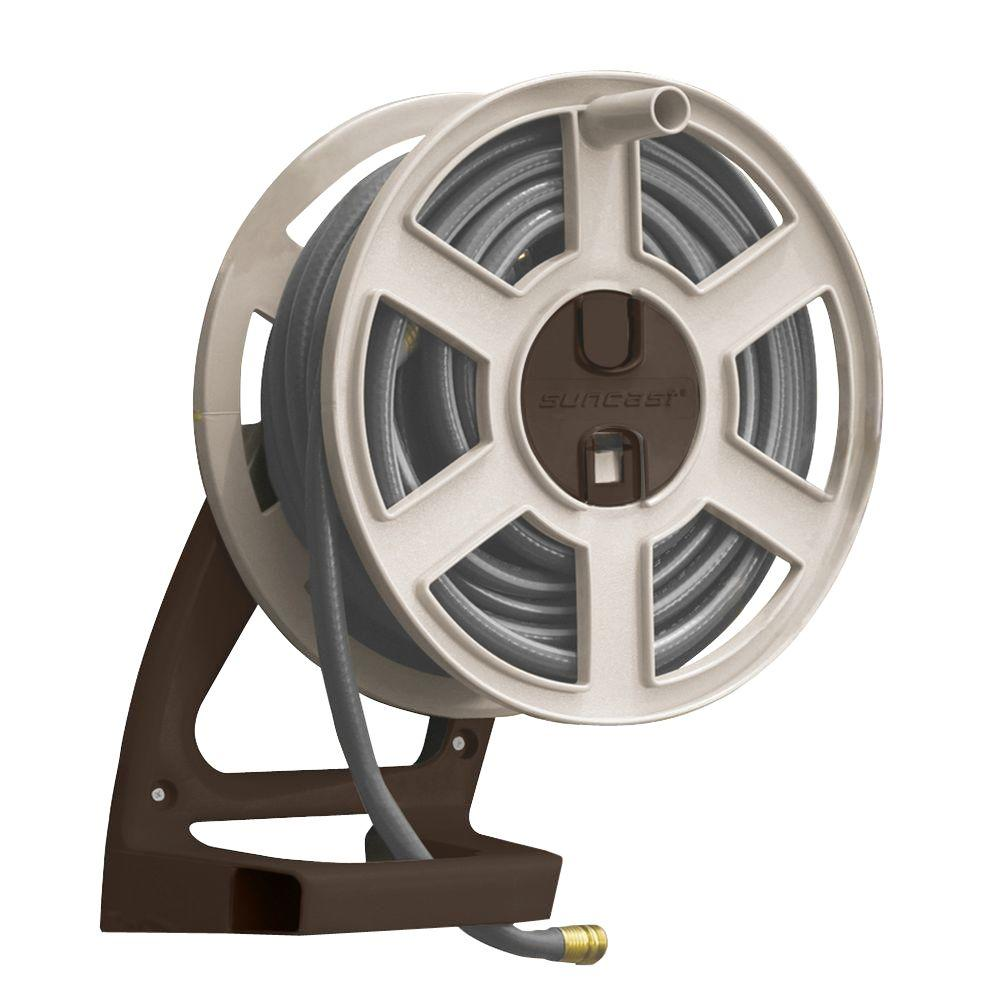 Suncast 100 Ft Side Tracker Wall Mount Hose Reel Cplsta100j2d The Home Depot