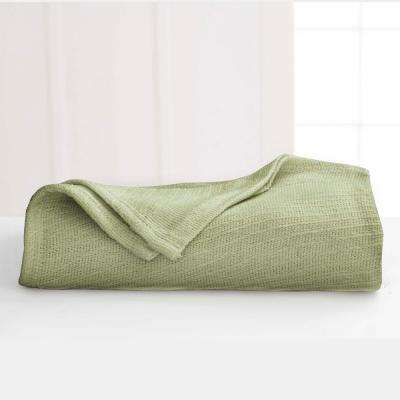 Cotton Sage Cotton Twin Blanket