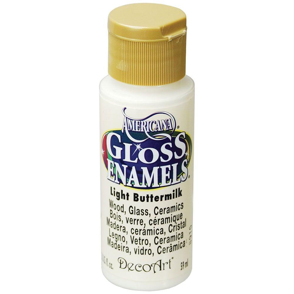2 oz. Light Buttermilk Gloss Enamel Paint