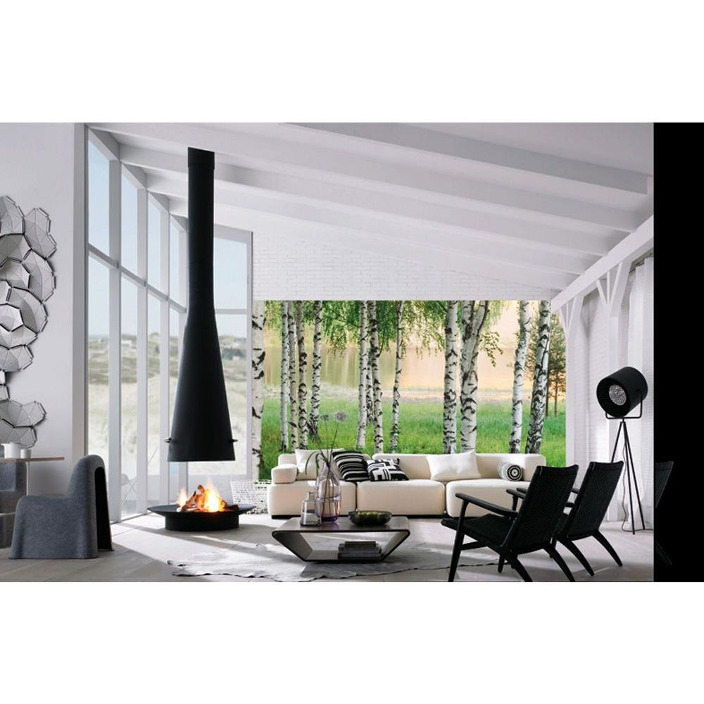Ideal Decor 100 In. X 144 In. Nordic Forest Wall Mural-DM290