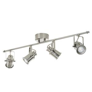 Alsy 3 ft. 4-Light Brushed Nickel Integrated LED Industrial Fixed Track Lighting Kit Bar by Alsy