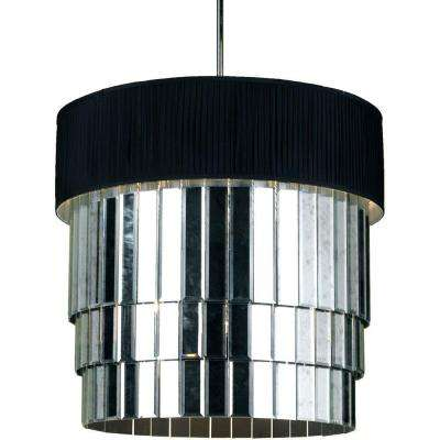 6740 6-Light Mirror Pendant with Black Shade