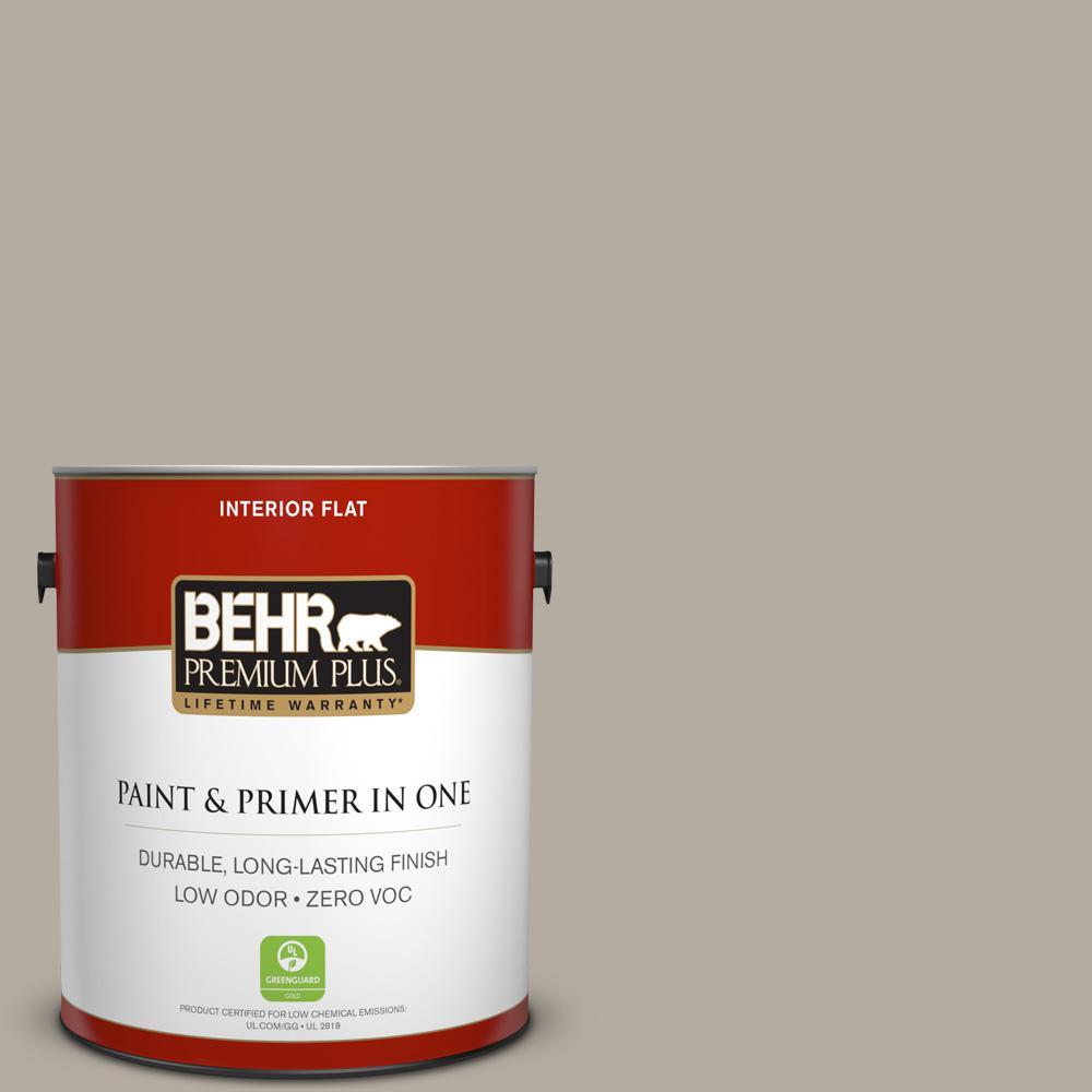 1 gal. #PPU18-13 Perfect Taupe Zero VOC Flat Interior Paint