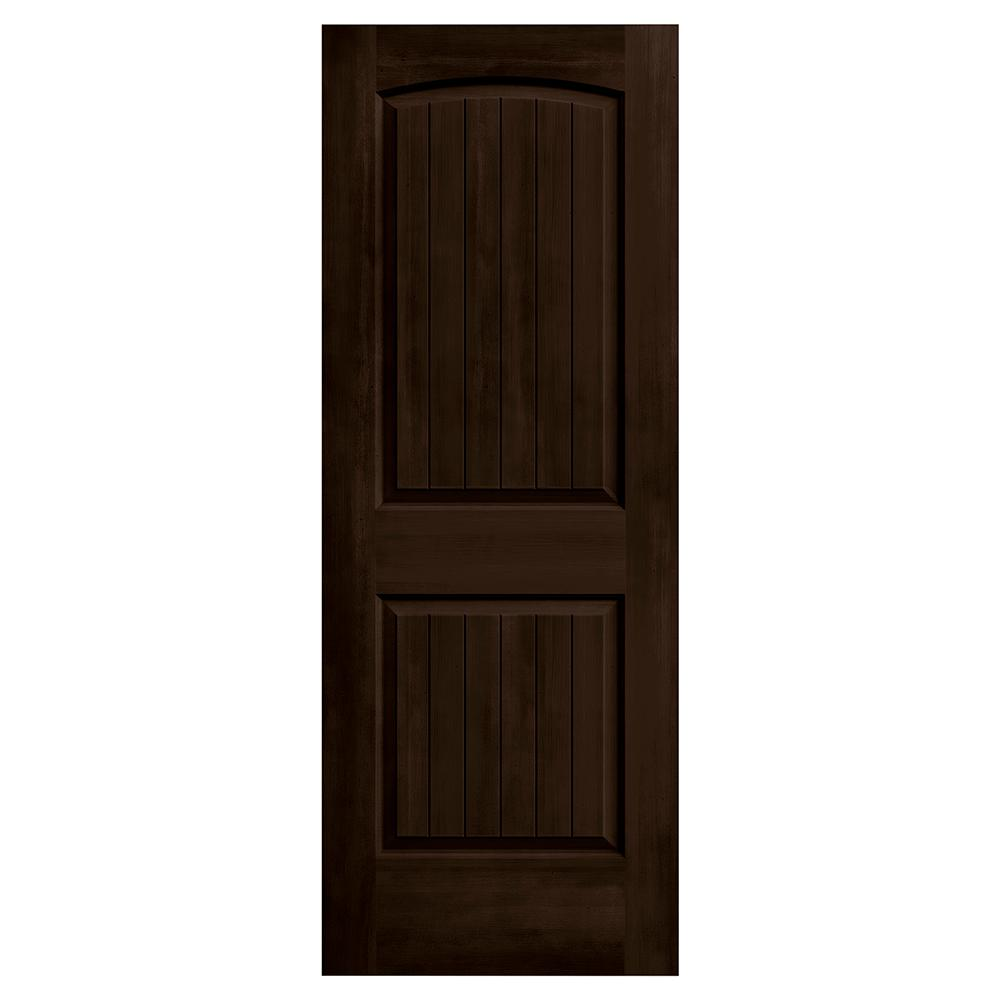 jeld wen 28 in x 80 in santa fe espresso stain solid core molded composite mdf interior door. Black Bedroom Furniture Sets. Home Design Ideas