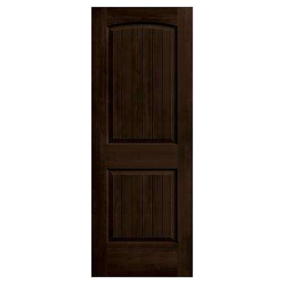 28 in. x 80 in. Santa Fe Espresso Stain Solid Core Molded Composite MDF Interior Door Slab