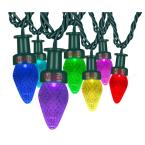 ColorMotion 24-Light Multi-Color Deluxe Christmas C7 LED String Light