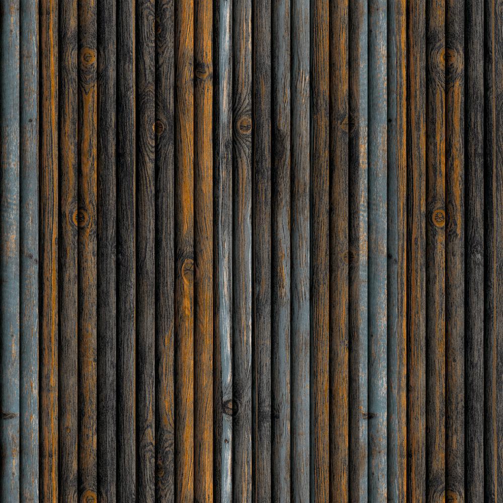 Falkirk Jura II 1/3 in. 28 in. x 28 in. Peel and Stick Blue, Orange Faux Wood PE Foam Decorative Wall Paneling (10-Pack)