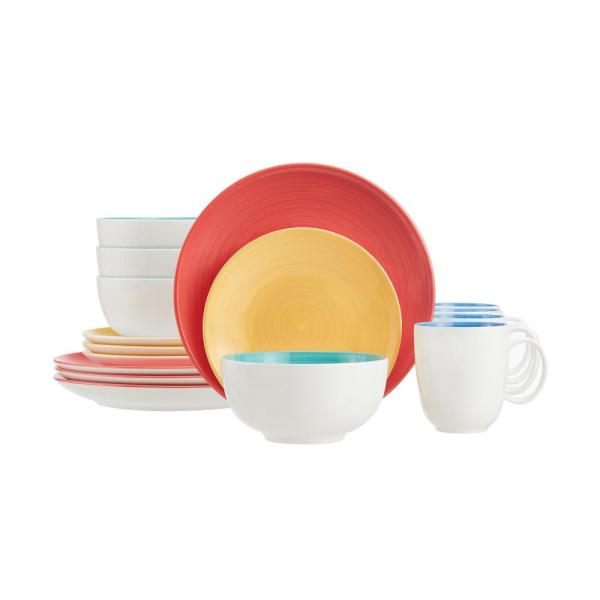 StyleWell 16-Piece Bright Mix & Match Stoneware Dinnerware Set (Service for 4)