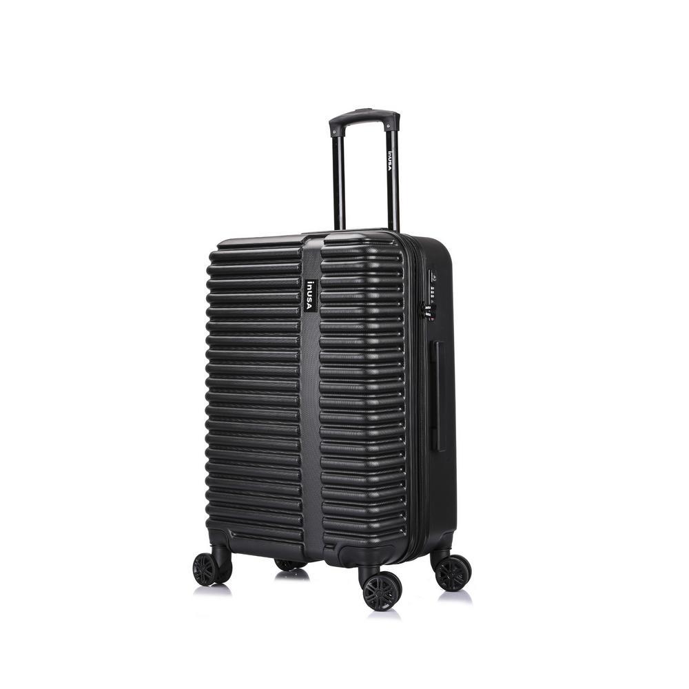 Ally 24 in. Black Lightweight Hardside Spinner Suitcase