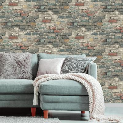 28.18 sq. ft. Brick Alley Peel and Stick Wallpaper