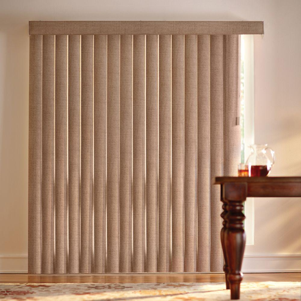 HomeDecoratorsCollection Home Decorators Collection Cocoa Jute 4.5 in. PVC Vertical Blind - 78 in. W x 84 in. L