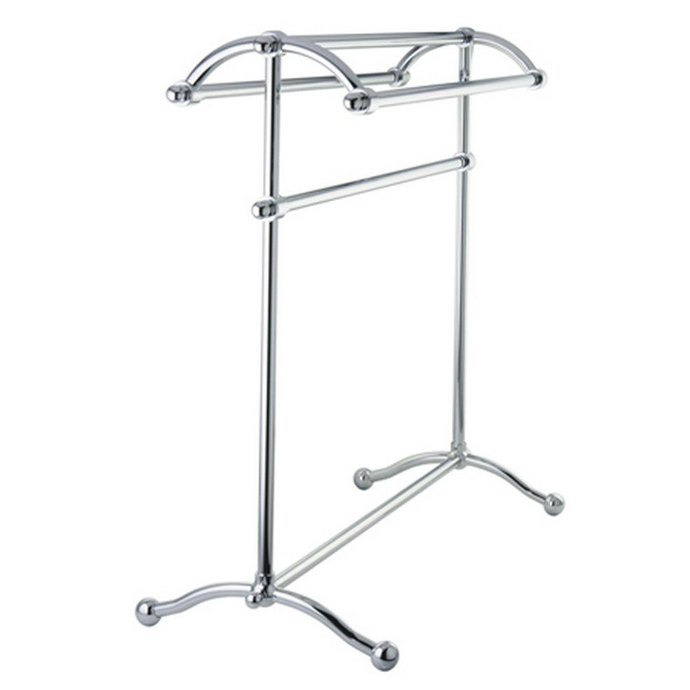 Kingston Brass Pedestal Towel Rack in Chrome