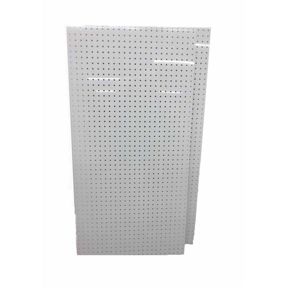 Triton Products DuraBoard (2) 24 in. x 48 in. x 1/4 in. White Polypropylene Pegboards w/ 9/32 in. Hole Size and 1 in. O.C. Hole Spacing