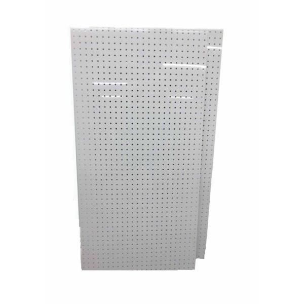 DuraBoard (2) 24 in. x 48 in. x 1/4 in. White Polypropylene Pegboards w/ 9/32 in. Hole Size and 1 in. O.C. Hole Spacing