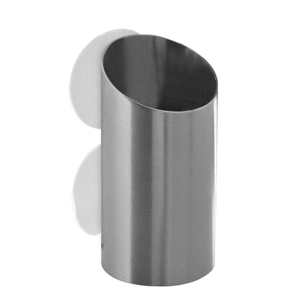 null Forma Toothbrush and Razor Cup in Brushed Stainless Steel