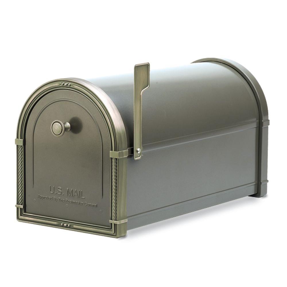Architectural Mailboxes Coronado Bronze with Antique Bronze Accents Post-Mount Mailbox