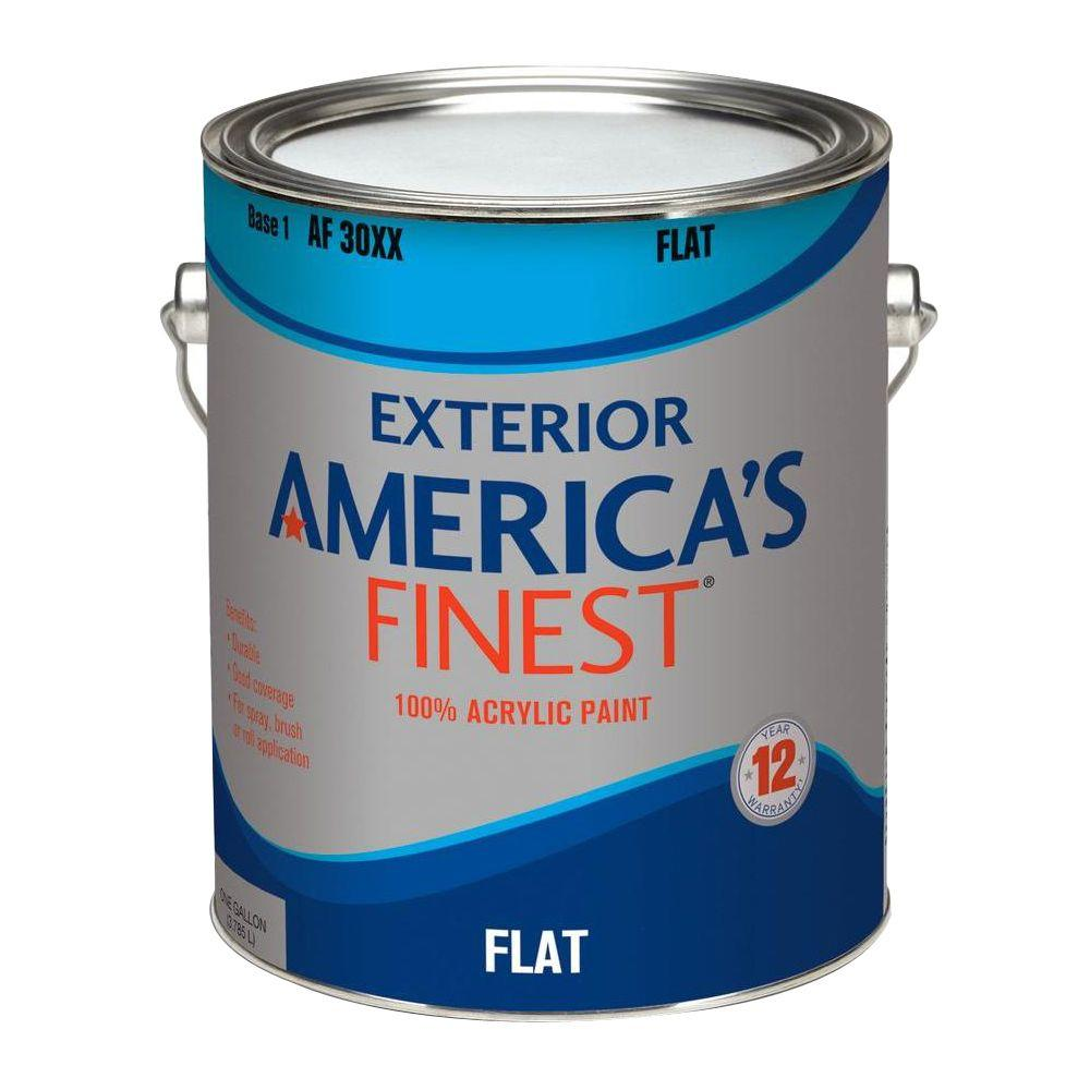 America 39 s finest 1 gal flat latex light colors exterior for Exterior paint gallon