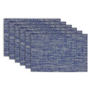 Design Imports Nautical Blue Tweed Placemat (Set of 6) by Design Imports