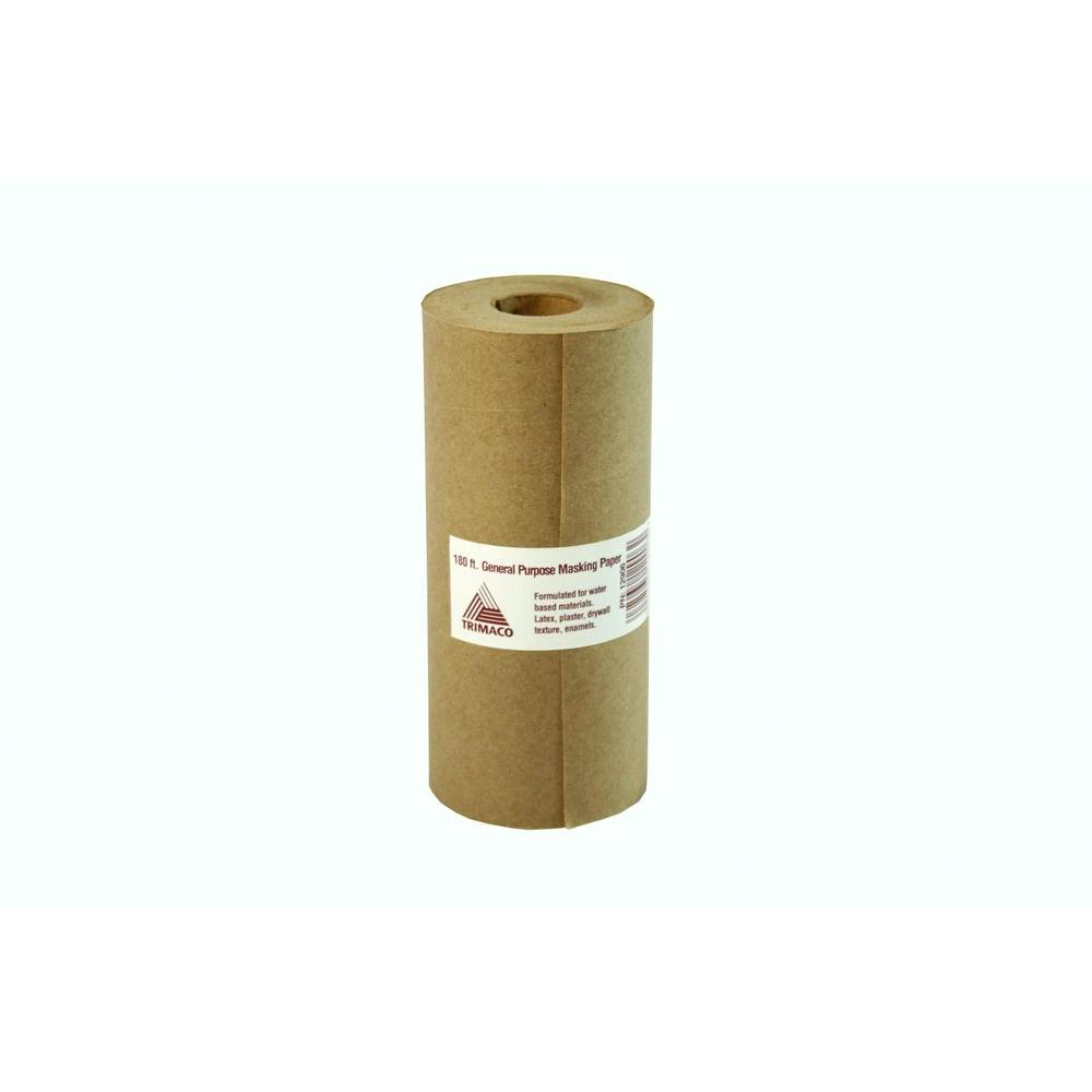 TRIMACO Easy Mask 6 IN. X 180 FT. Brown General Purpose Masking Paper
