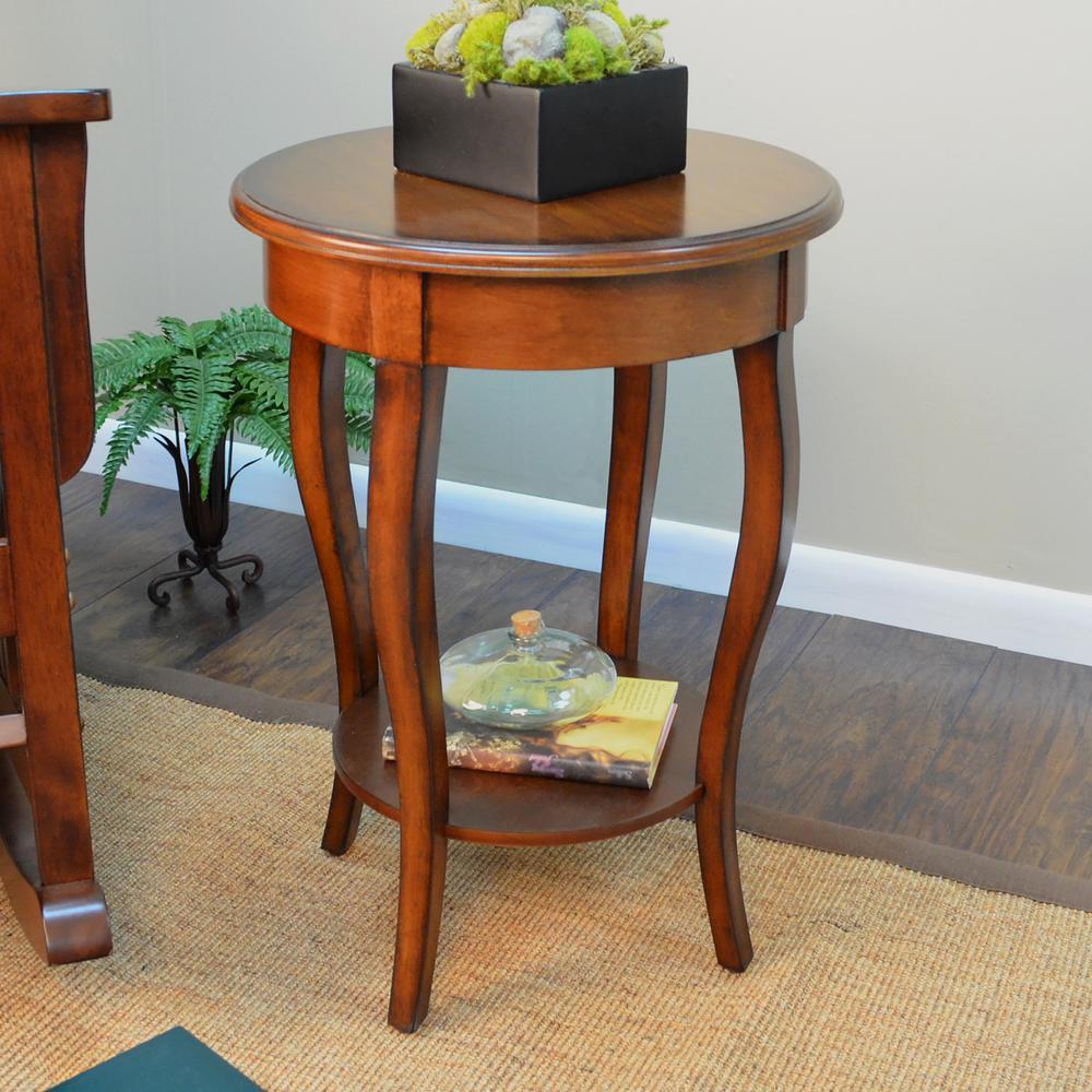 Carolina Cottage Radnor Chestnut Side Table