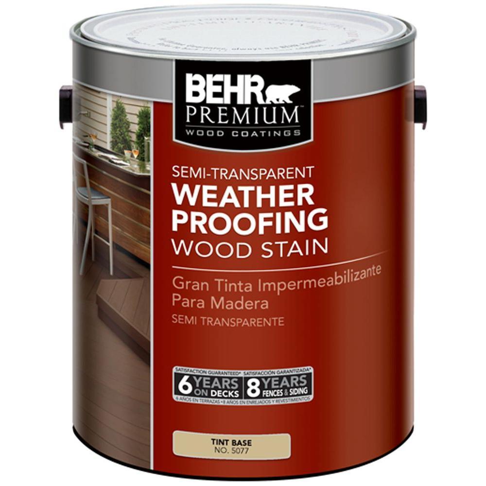 BEHR Premium 1-gal. Semi-Transparent Weatherproofing Wood Stain Tint Base