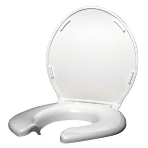 Big John Elongated Open Front Toilet Seat With Cover In