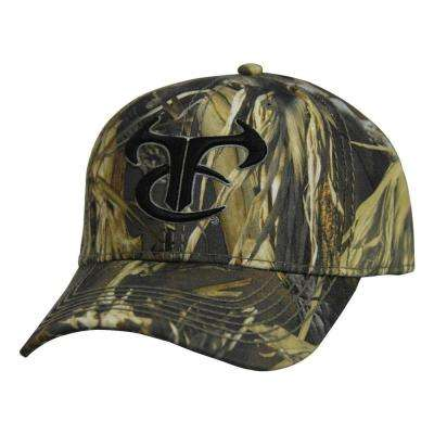 Men's Adjustable DRT Camo Baseball Cap with, Black
