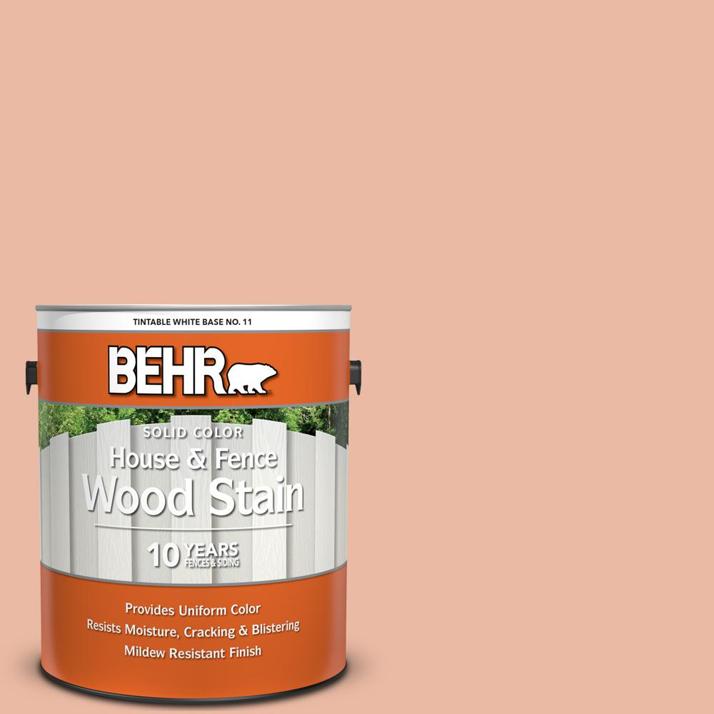 Wood Stain Dusk: BEHR 1 Gal. #M200-3 Sunset Drive Solid Color House And