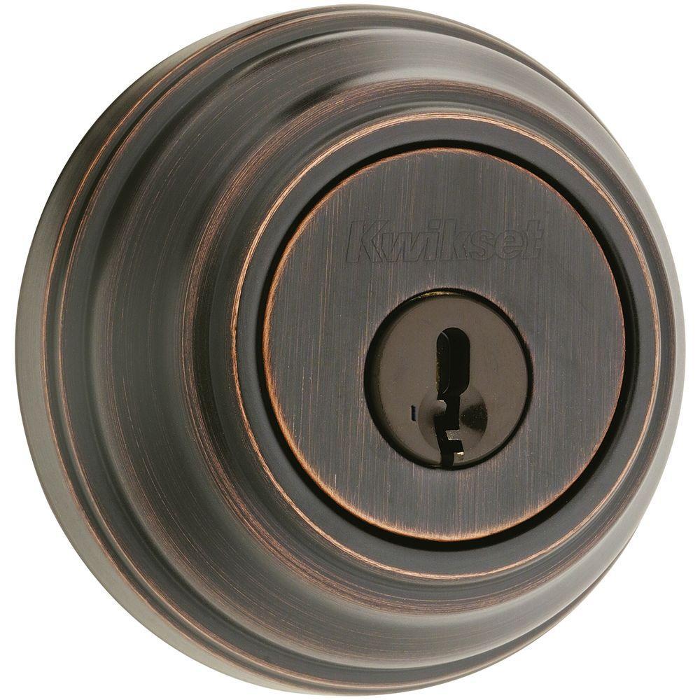 Kwikset 982 Single Cylinder Venetian Bronze  Deadbolt Featuring SmartKey