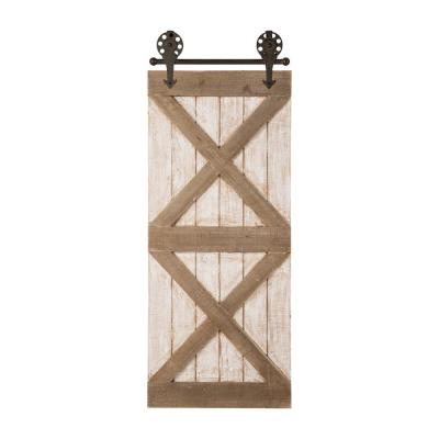 35.25 in. H Farmhouse Wooden Barn Door Wall Decor