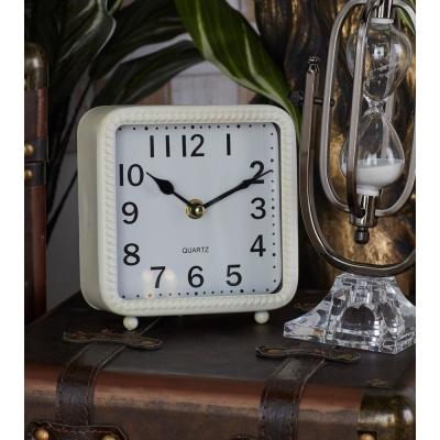 Vintage Black, White and Gray Table Clocks (Set of 3)