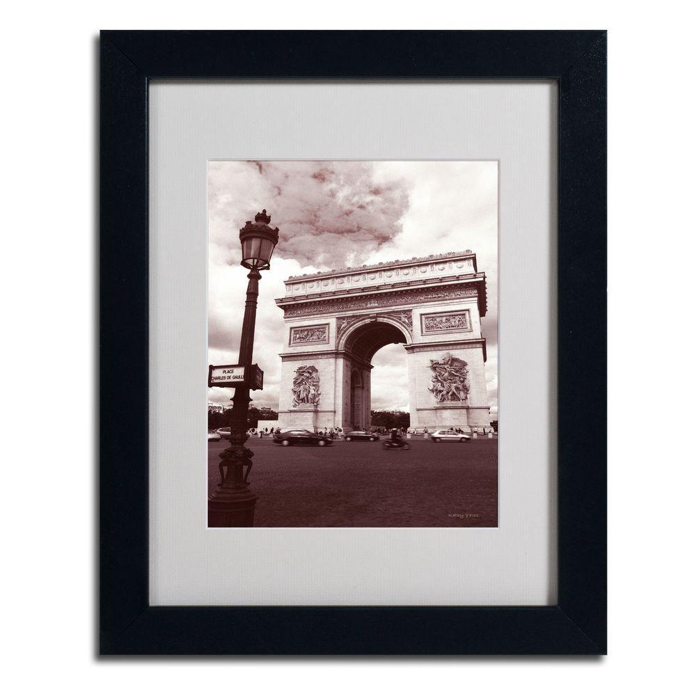11 in. x 14 in. Arc De Tmphe Matted Framed Art