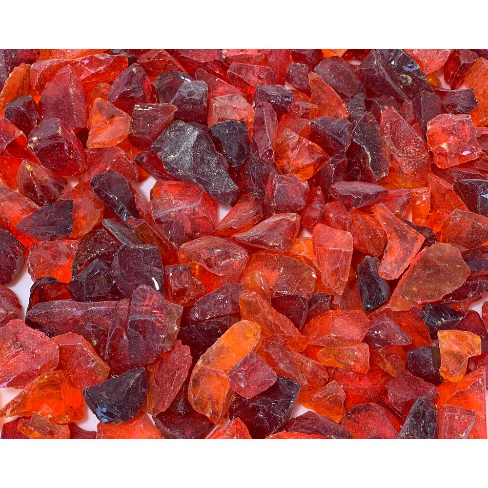 Margo Garden Products 1/2 in. 25 lb. Medium Red Landscape Fire Glass
