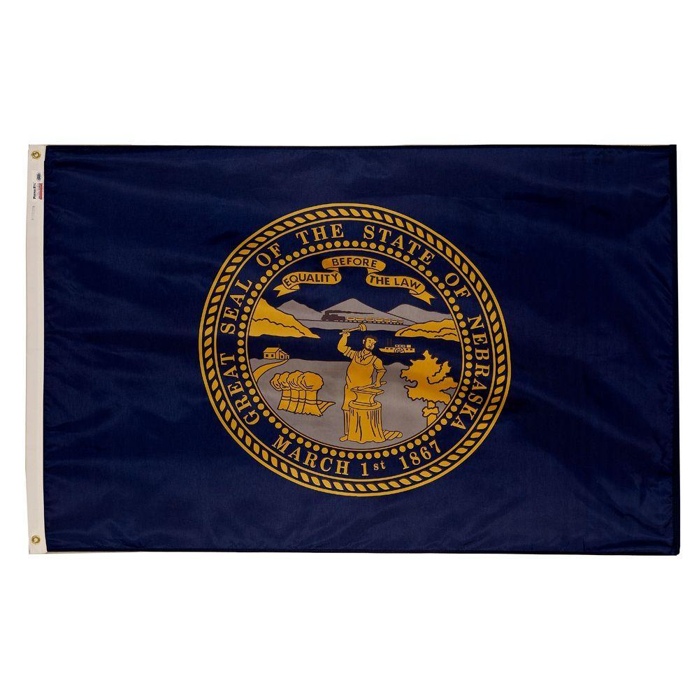 3 ft. x 5 ft. Nylon Nebraska State Flag