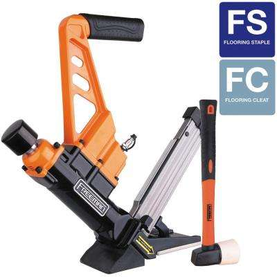 3-in-1 Flooring Air Nailer and Stapler with Fiberglass Mallet