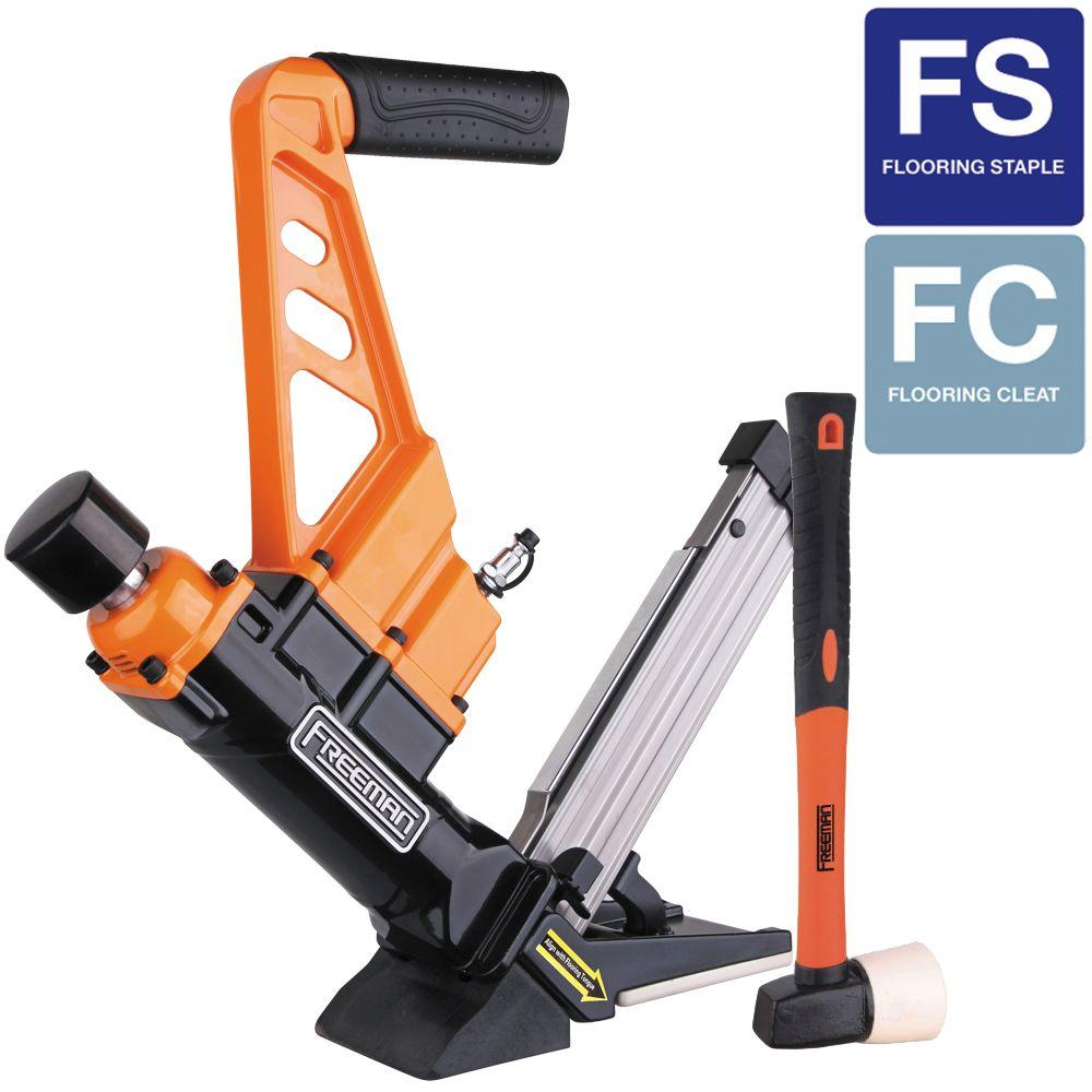 Freeman Reconditioned 3-In-1 Flooring Air Nailer and Stapler with Fiberglass Mallet Class C-DISCONTINUED
