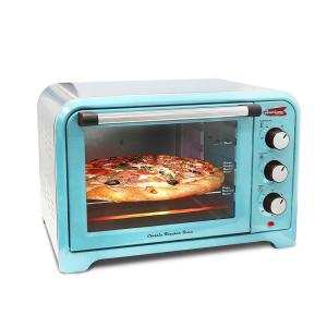 Americana 6 Slice of Bread or 12 inch Pizza Retro Toaster Oven Blue color by Americana