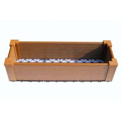 12 in. x 36 in. Peruvian Teak Composite Lumber Patio Raised Garden Bed Kit