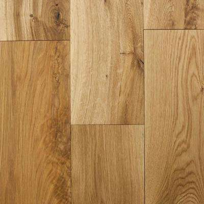 Castlebury Natural Eurosawn Oak 3/8 in. T x 6 in. W x Random Length Click Eng Hardwood Flooring (30.5 sq. ft. / case)