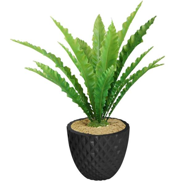 Laura Ashley 37.6 in. Real Touch Agave in Fiberstone Planter VHX149205