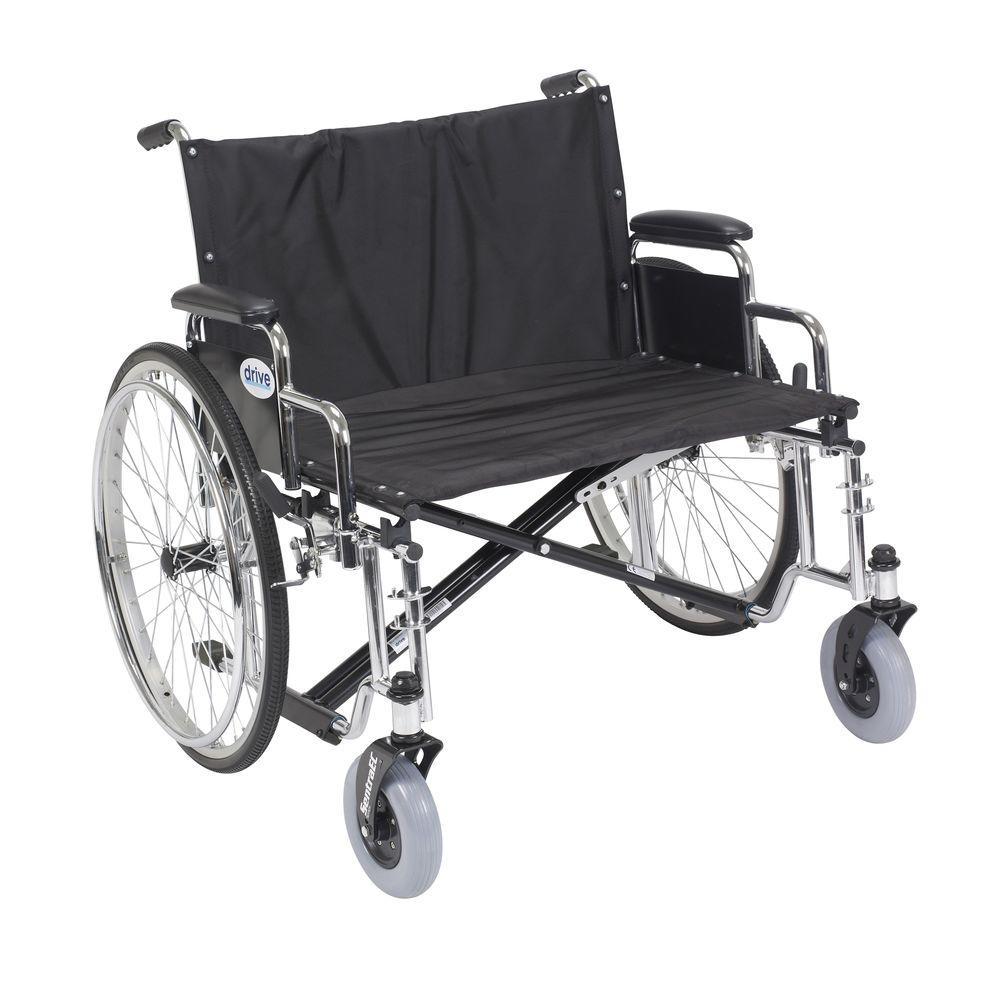 Sentra EC Heavy Duty Extra Wide Wheelchair with Detachable Desk Arms