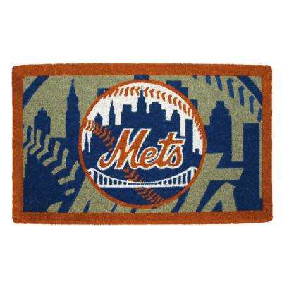 MLB 18 in. x 30 in. New York Mets Bleached Welcome Mat