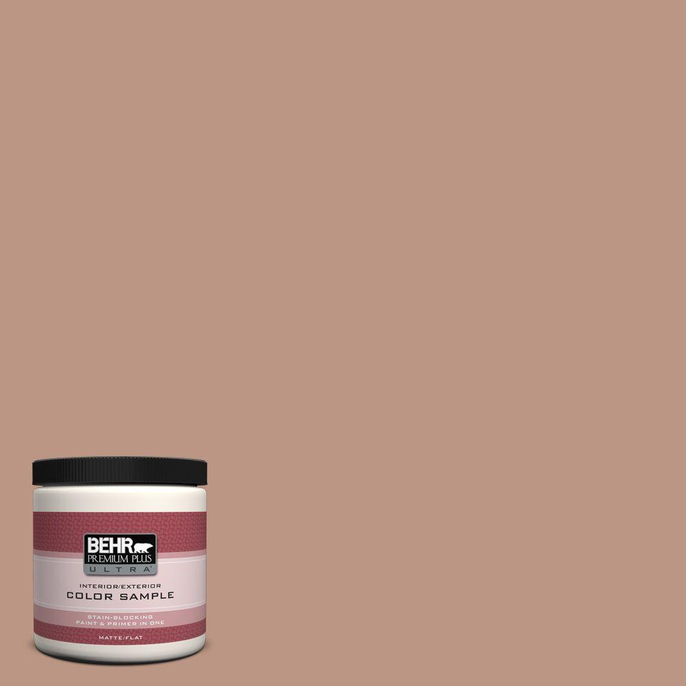 BEHR Premium Plus Ultra 8 oz. #S190-4 Spiced Brandy Interior/Exterior Paint Sample