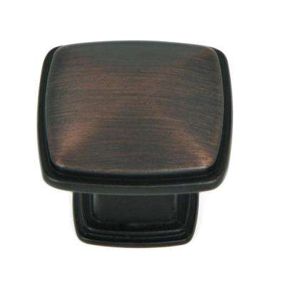 Providence 1-1/4 in. Oil Rubbed Bronze Square Cabinet Knob (10-Pack)