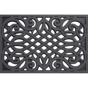 Apache Mills Wrought Iron Gray 24 inch x 36 inch Door Mat by Apache Mills