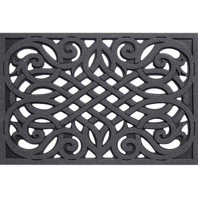 Wrought Iron Gray 24 in. x 36 in. Door Mat