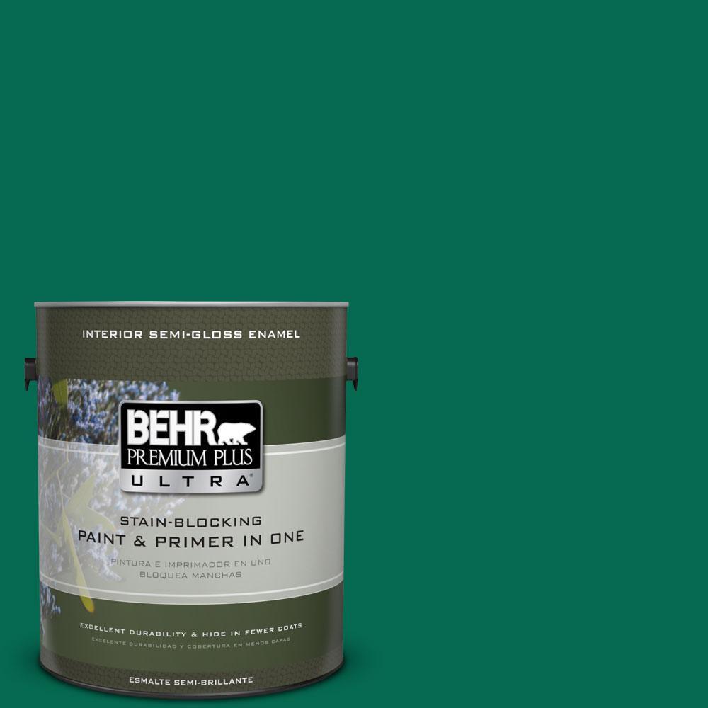 BEHR Premium Plus Ultra 1-gal. #480B-7 Clover Brook Semi-Gloss Enamel Interior Paint