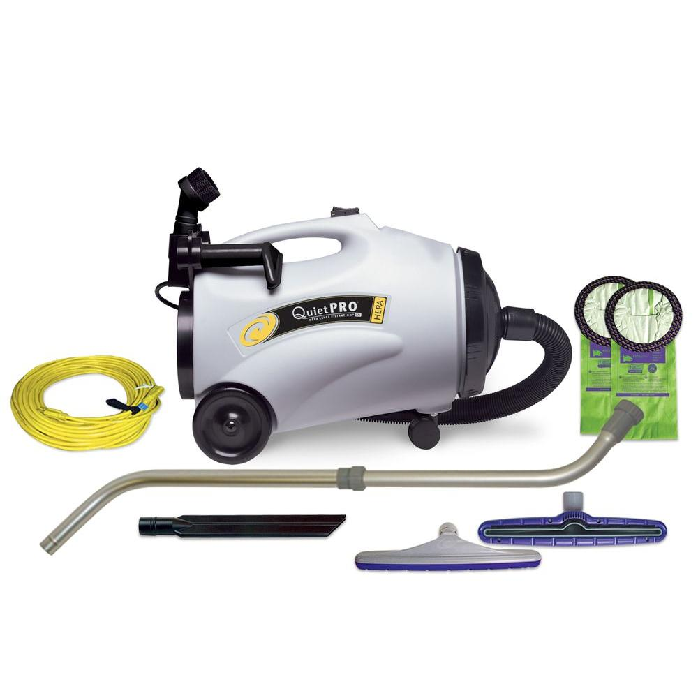 ProTeam QuietPro CN HEPA 10 Qt. Canister Vac with Xover Multi-Surface Telescoping Wand Tool Kit