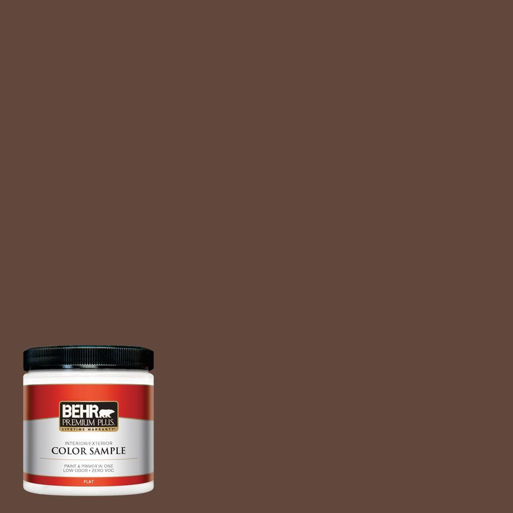 8 oz. #S-G-760 Chocolate Coco Interior/Exterior Paint Sample